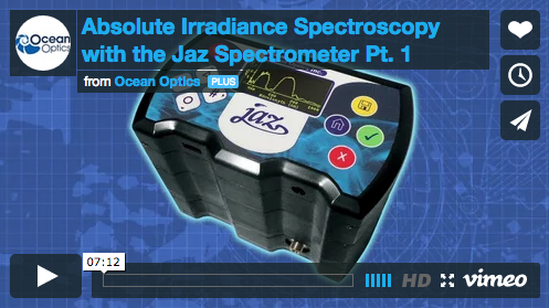 Absolute Irradiance Spectroscopy with the Jaz Spectrometer Pt. 1