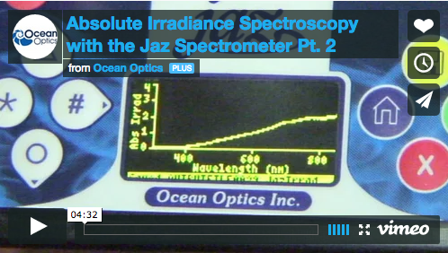 Absolute Irradiance Spectroscopy with the Jaz Spectrometer Pt. 2