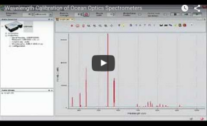 Wavelength Calibration of Ocean Optics Spectrometers